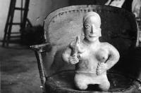 Description: Untitled (Figurine Sitting in a Chair, Museo Nacional de Arqueología, Historia...