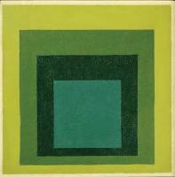 Description: Homage to the Square: In Four Greens