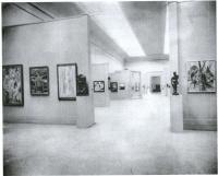 Description: Installation view of the International Exhibition of Modern Art, organized by...