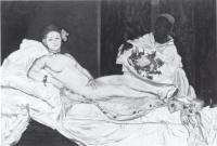 "Description: After ""Olympia"" by Manet"