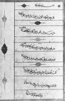 Description: Single-sheet specimen in tawqī' signed by 'Abd Allah b. Mahmud al-Sayrafi,...