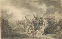 Description: Study for The Death of General Warren at the Battle of Bunker's Hill