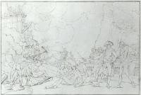 Description: Study for The Sortie Made by the Garrison of Gibraltar