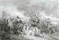 Description: Study for The Death of General Mercer at the Battle of Princeton