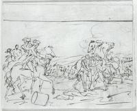 Description: Study for The Capture of the Hessians at Trenton