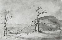 Description: Study for View on the West Mountain near Hartford
