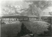 Description: A Distant View of the Falls of Niagara