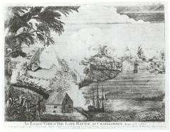 Description: An Exact View of the Late Battle at Charlestown