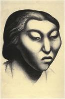 Description: Head of a Mayan Woman (Head of a Mexican Woman)