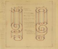 "Study for glass construction ""Rolled Wrongly"