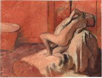 Description: After the Bath (Woman Drying Herself)