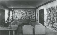 Description: Ben Heller's Living Room with Pollock's Blue Poles