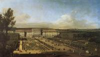 Description: The palace of Schönbrunn, Vienna, seen from the gardens