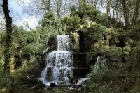 Description: Bowood, Wiltshire: park designed by Capability Brown with water fall by Charles...