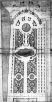 Description: Parterre at Aranjuez: a detail of the pattern in box between the palace and the...