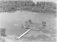 Description: The 'Fresneda,' an artificial lake with an island in Philip II's garden in the...