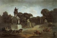 Description: View of Place Louis XV in Paris (now Place de la Concorde)
