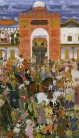 Description: Dignitaries at the enthronement of Jahangir