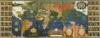 Description: World map with varieties of mankind