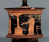 Description: Red-figure pyxis