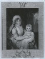 Description: Portraits of HRH the Princess of Wales and Princess Charlotte