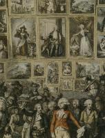 Description: Detail of The Exhibition of the Royal Academy, 1787