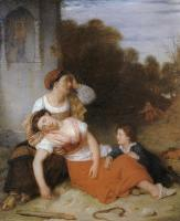 Description: A Peasant Woman Fainting from the Bite of a Serpent