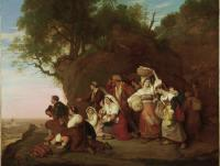 Description: Pilgrims Arriving in Sight of Rome