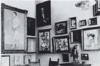 Description: A room in the house of Leo and Gertrude Stein, with six paintings by Picasso and six...