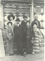 Description: Portrait of Charles Freer with Hara Tomitarō and Family in Japan
