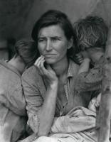 Description: Destitute pea pickers in California. Mother of seven children, Age thirty-two....