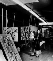 Description: The Abstract Gallery, designed by Frederick Kiesler, one of the spaces in Peggy...