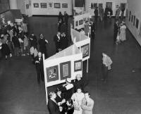 Description: Installation photograph of the opening night of the Brooklyn Museum's Tenth National...